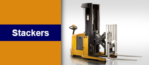 Crown Walkie Reach Stacker - Industrial Equipment Rental Company